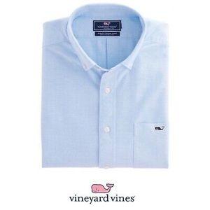 Vineyard Vines Slim Fit Tucker Shirt - blue linen